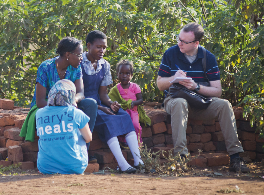 My Weekly's Stuart Johnstone visited Zambia in September, 2015 Pic: Chris Watt