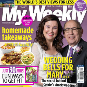 Cover of August 26 issue with Mary and Norris from Coronation Street