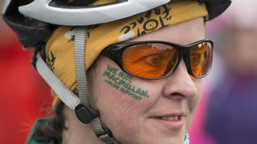 Picture: Macmillan fundraiser Aileen Stewart before the race