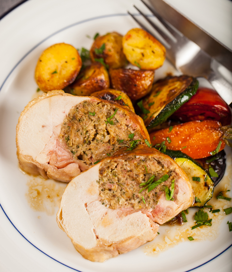 Stuffed chicken, £17 for 800g