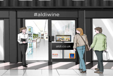 Aldi Wine Pop-up Shop