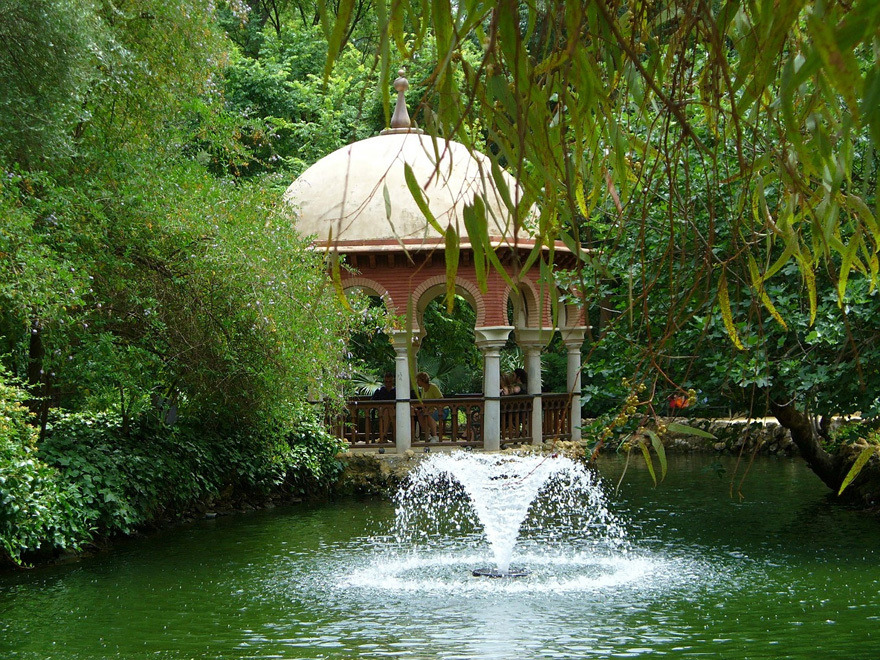 A lavish water fountain