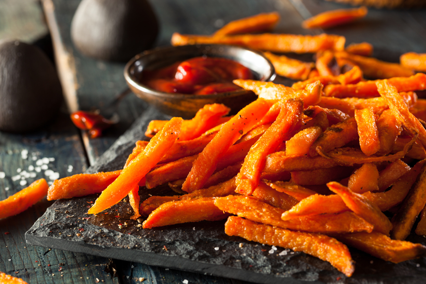 Sweet potato fries Pic: Shutterstock