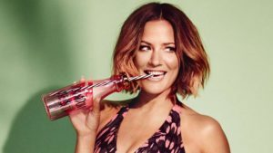 Caroline Flack in a swimsuit