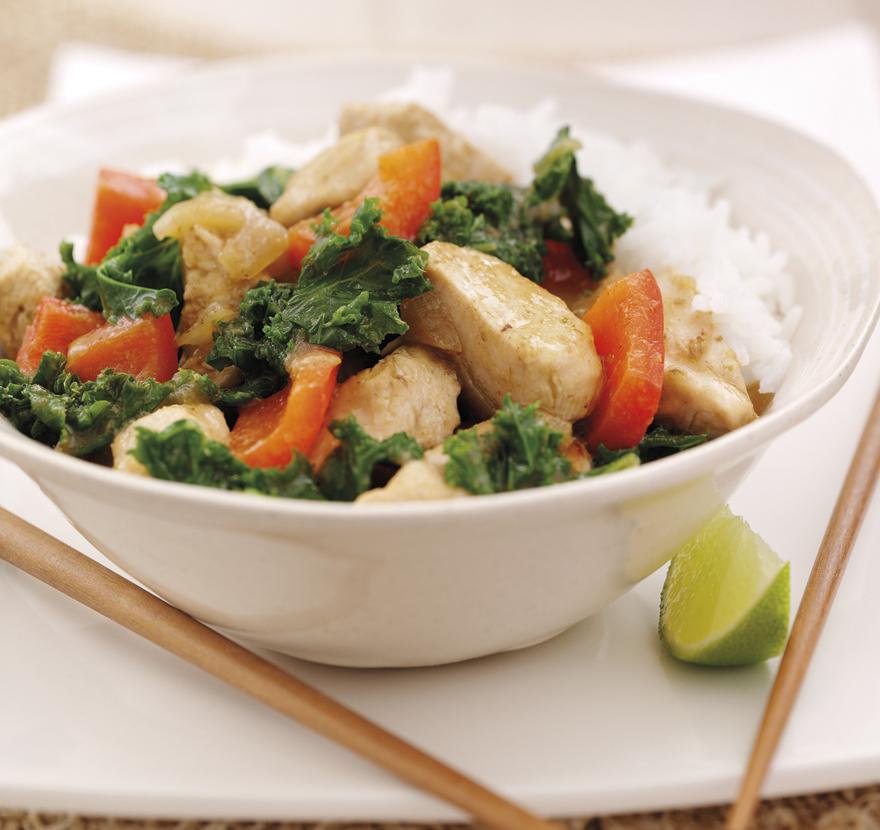 Thai Turkey With Kale