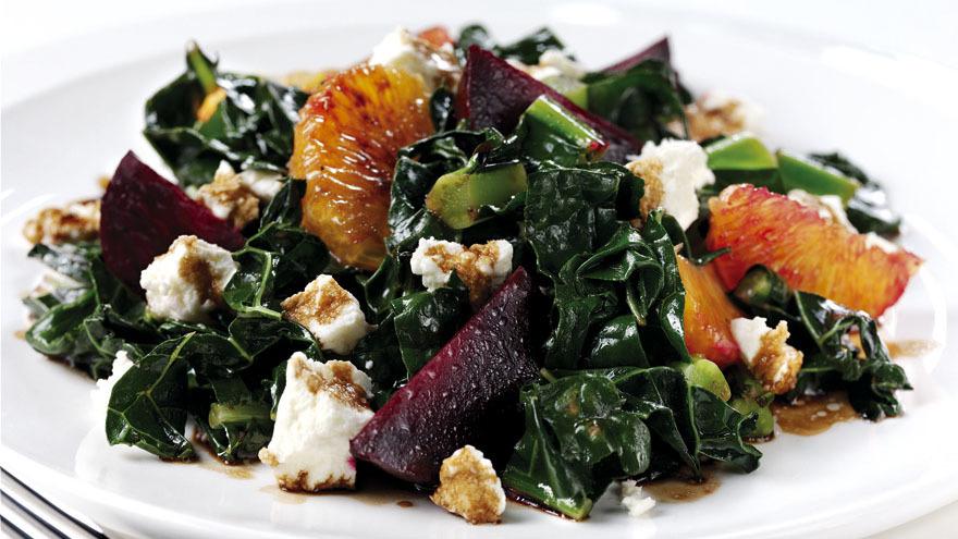 Kale, beetroot and orange salad