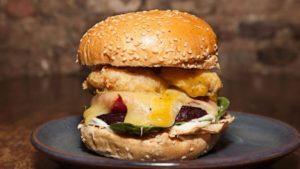 Jamaican Fire burger