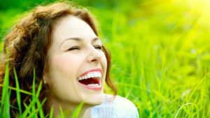 lady smiling Pic: Rex/Shutterstock