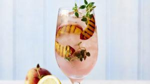 rose and peach spritzer