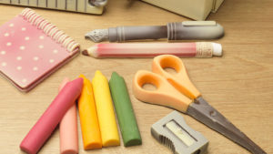 A stationery set made with chocolate!