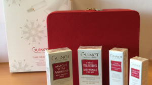Guinot products and vanity case