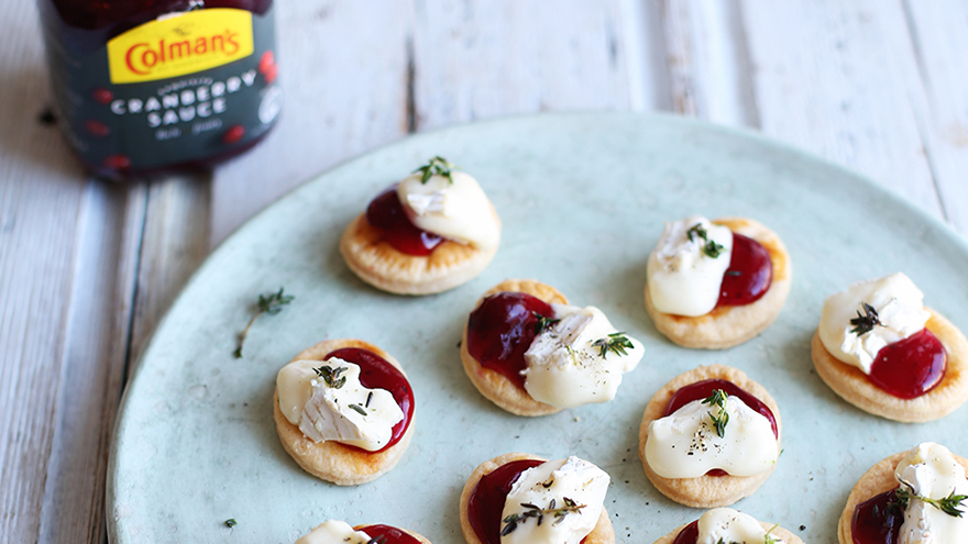 Cranberry and brie belinis
