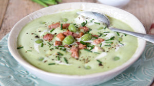 Pea and turkey soup