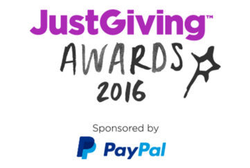 Logo: Just Giving Awards 2016, sponsored by PayPal