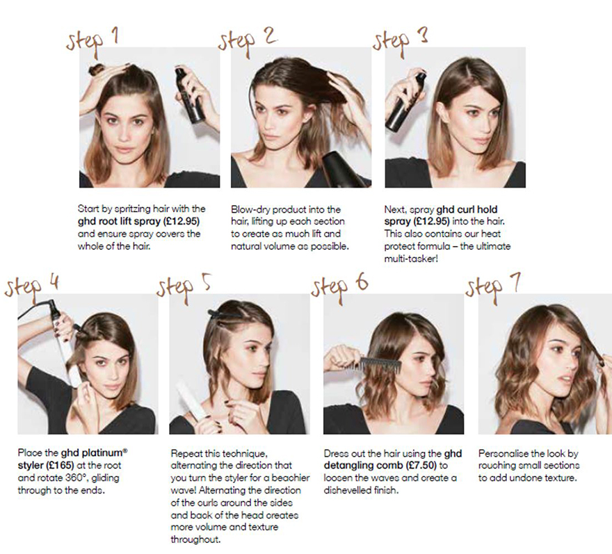 Step by Step pics for wavy bob