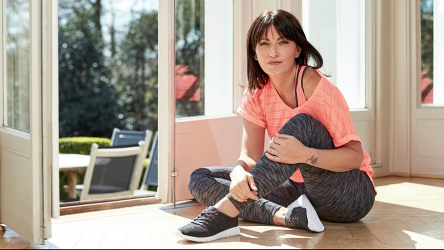 Davina McCall models active wear by F&F, Tesco