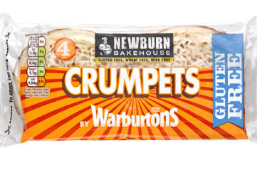 A pack of Warburtons Crumpets