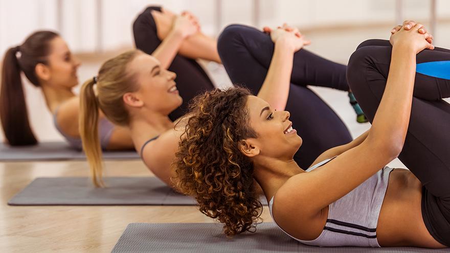 Three ladies exercising Pic: Rex/Shutterstock