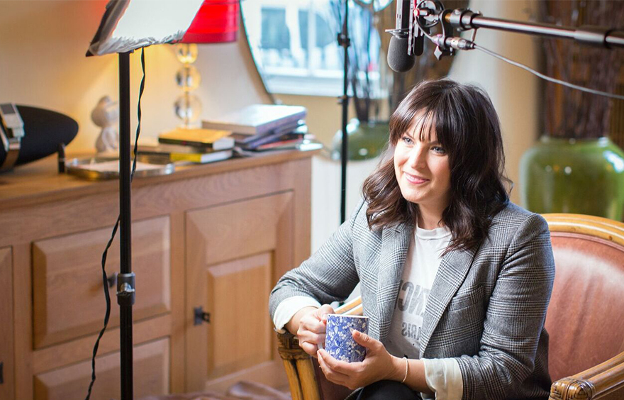 Broadcaster Anna Richardson, whose father suffered a stroke