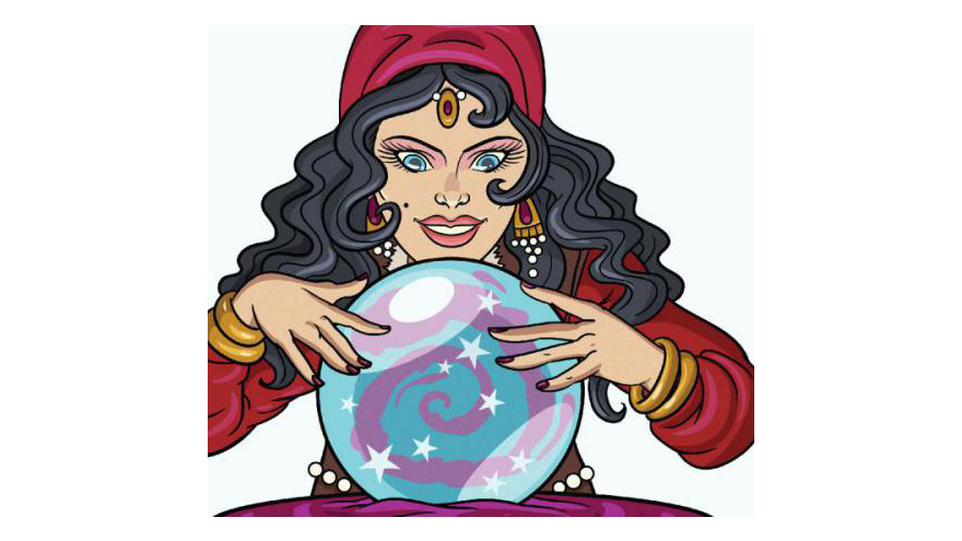 cartoon of fortune teller