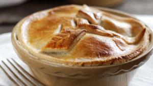 Cooked chicken pie
