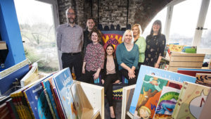 (l-r) Steven Tait (Team Manager, Children's Services, NSPCC), Mark Platten (Assistant Consumer Marketing Manager, Primula Cheese), Tess King (CSP Level 3 Social Worker, NSPCC), Catherine Hopper (Consumer Marketing Manager, Primula Cheese), Adele Turnbull (Regional Corporate Partnerships Manager, NSPCC), Jo Newton (Centre Administrator, NSPCC) Tracey Swithenbank (Consultant Social Worker, NSPCC).
