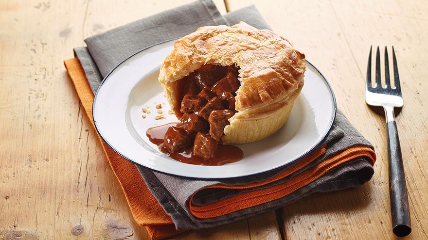 Pukka pie with steak filling