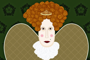 Queen Elizabeth 1 cartoon