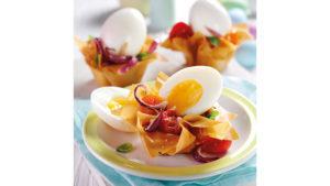 Eggs in filo pastry