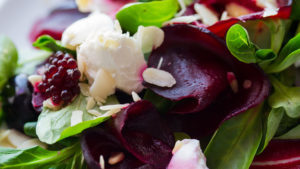 Salad of beets, lettuce and cheese Pic: Istockphoto