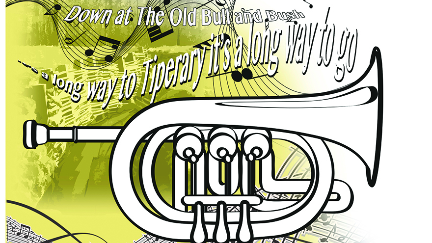 picture of trumpet and music notes