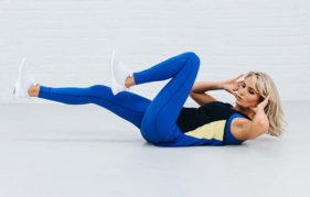 Faya Nilsson, otherwise know as Fitness On Toast launches the High Intensity No Stress workout, created with Sure to help the nation fit fitness into their lunch breaks