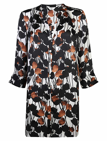 Dark floral printed tunic shirt, £60