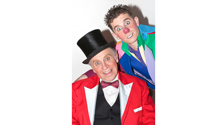 Cirque du Hilarious clowns Clive Webb and Danny Adams