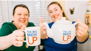 The Big Brew Up - 2 women with mug and teapot