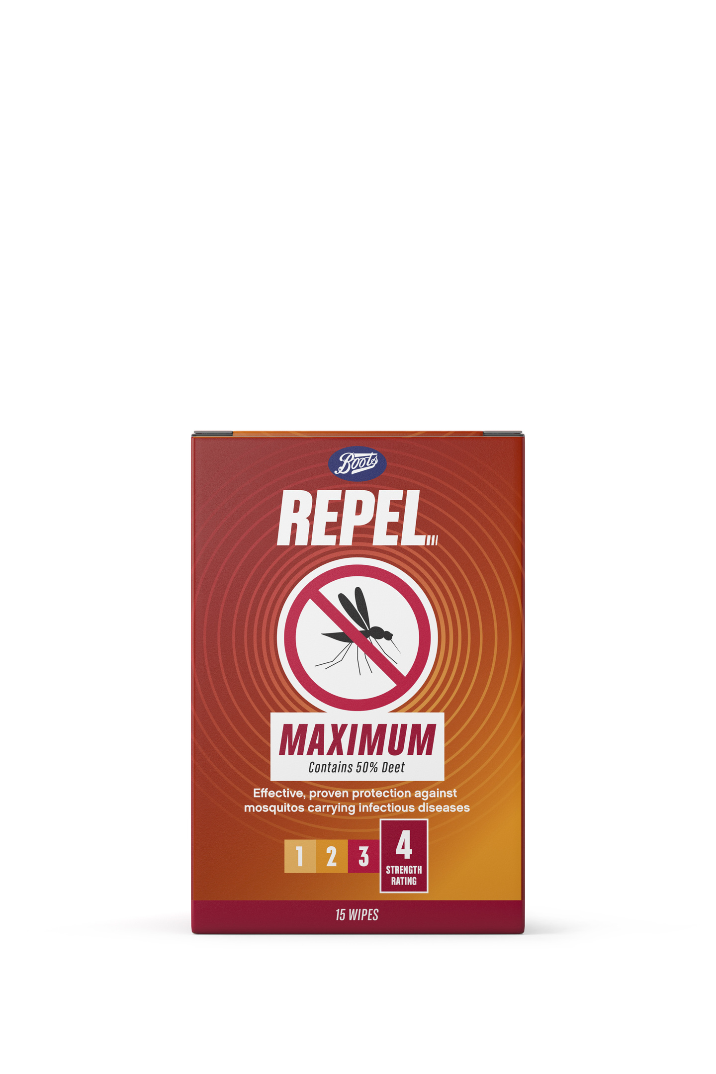 Boots Repel Maximum Wipes Box Render