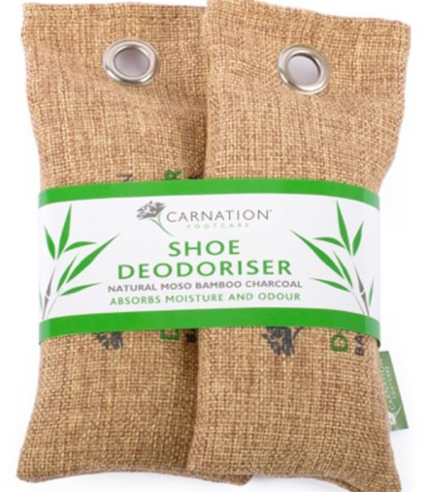 Natural shoe deodoriser pouches made of canvas