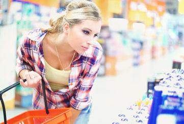 Lady shopping for beauty products Pic: Istockphoto