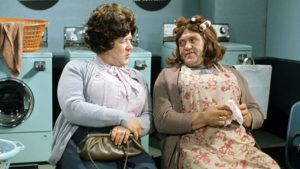Roy Barraclough as Cissie Credit: Photo by ITV/REX/Shutterstock (980977fd) 'Sez Les' - Les Dawson as Ada and Roy Barraclough as Cissie. ITV ARCHIVE