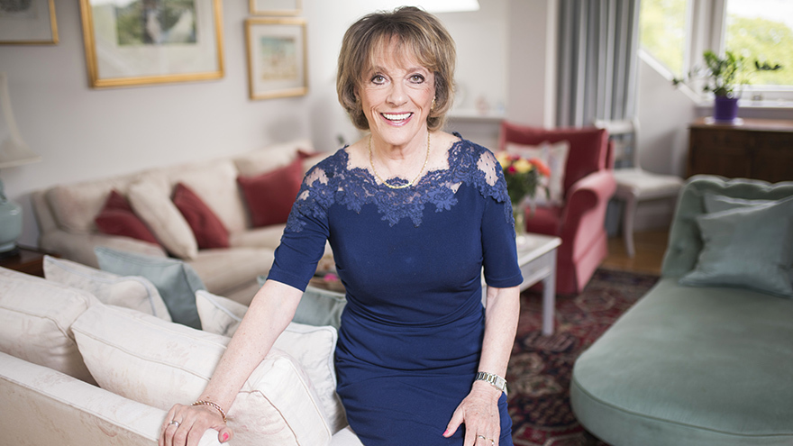 Dame Esther Rantzen with Be Clear on Cancer
