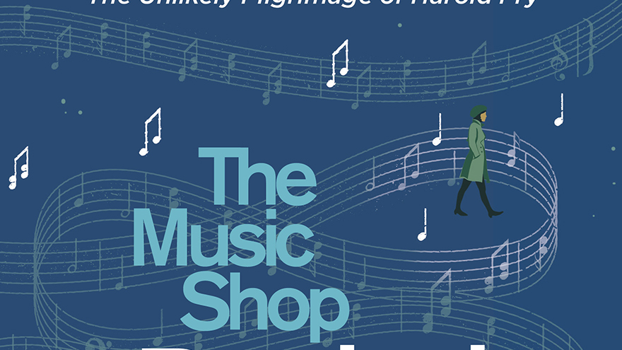 The Music Shop title showing music notes