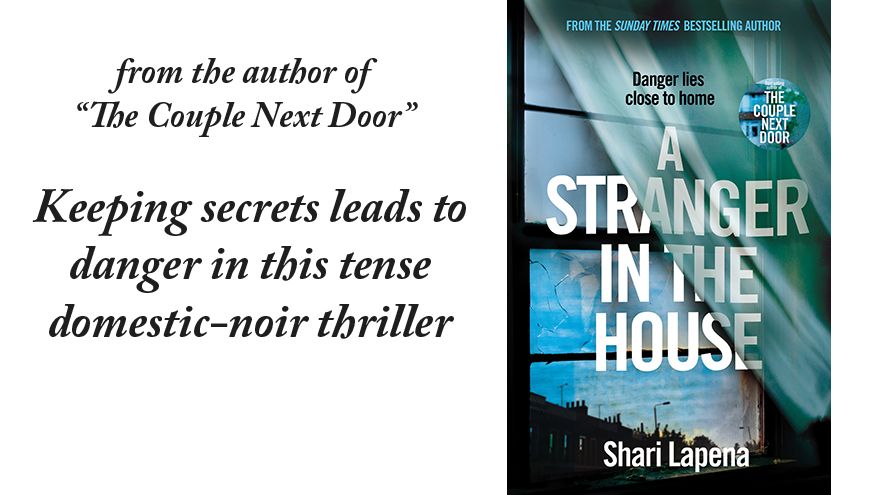 A Stranger In The House cover and quote