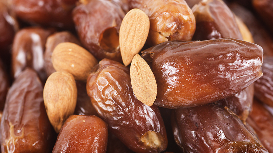 Dates and almonds, the perfect combination Pic: Istockphoto