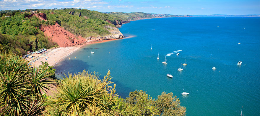 Babbacombe Beach in Devon