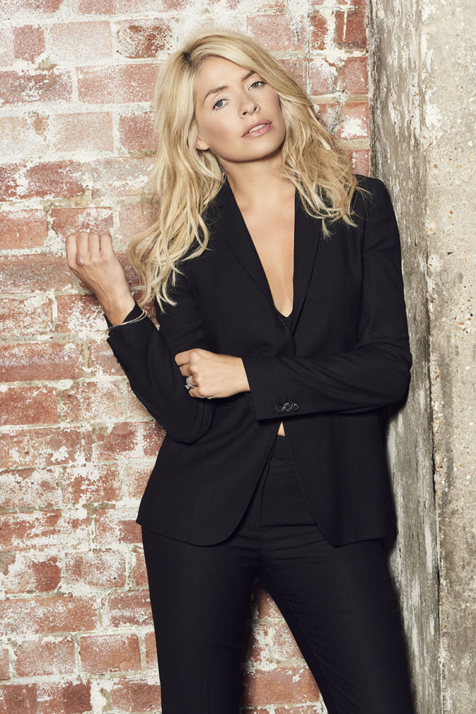 Holly in a trouser suit