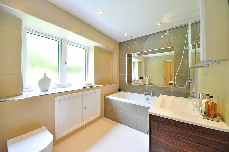 White bathroom fittings