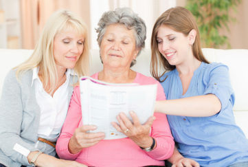 Three generations of women indoors Pic: Istockphoto