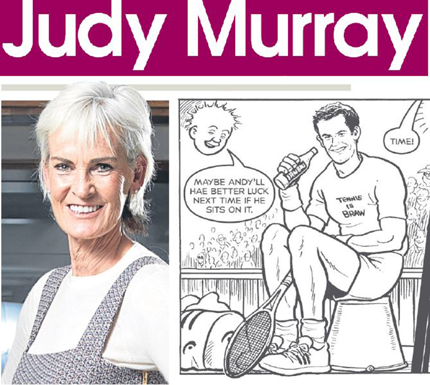 Judy, plus Andy in a Oor Wullie strip