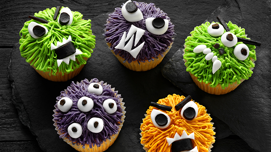 Fun monster cupcakes