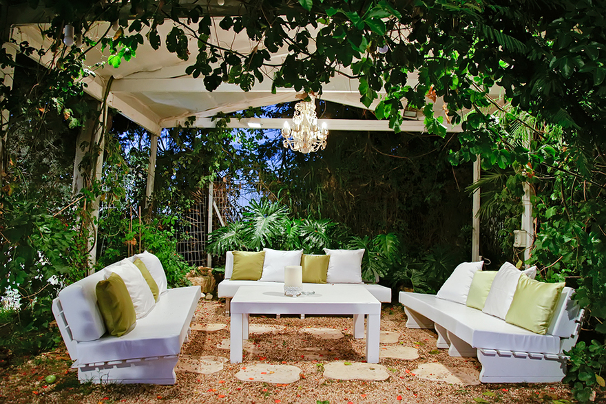 Romantic patio area